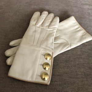 Coach leather/cashmere gloves size 7 1/2